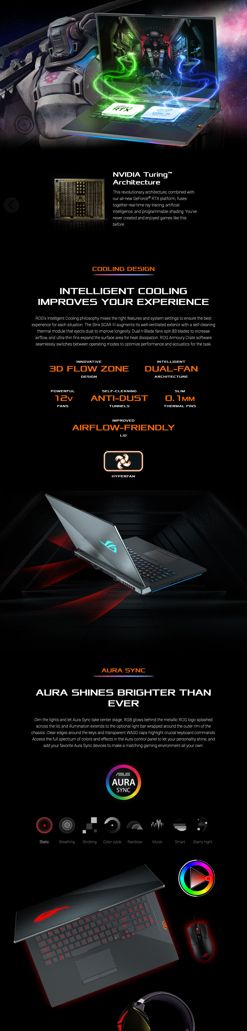ASUS Strix Scar III Core i7 GeForce GTX 1660 Ti 15 6in Notebook
