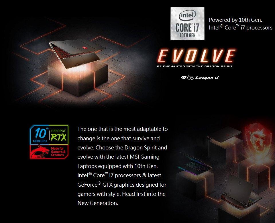 MSI GL65 10th Gen Core i7 GTX 1660 Ti 15.6in 144Hz Notebook features