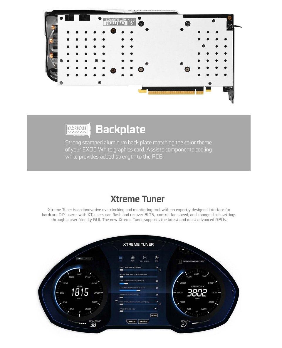 Galax GeForce RTX 2070 Super EX Gamer (1-Click OC) 8GB features 2