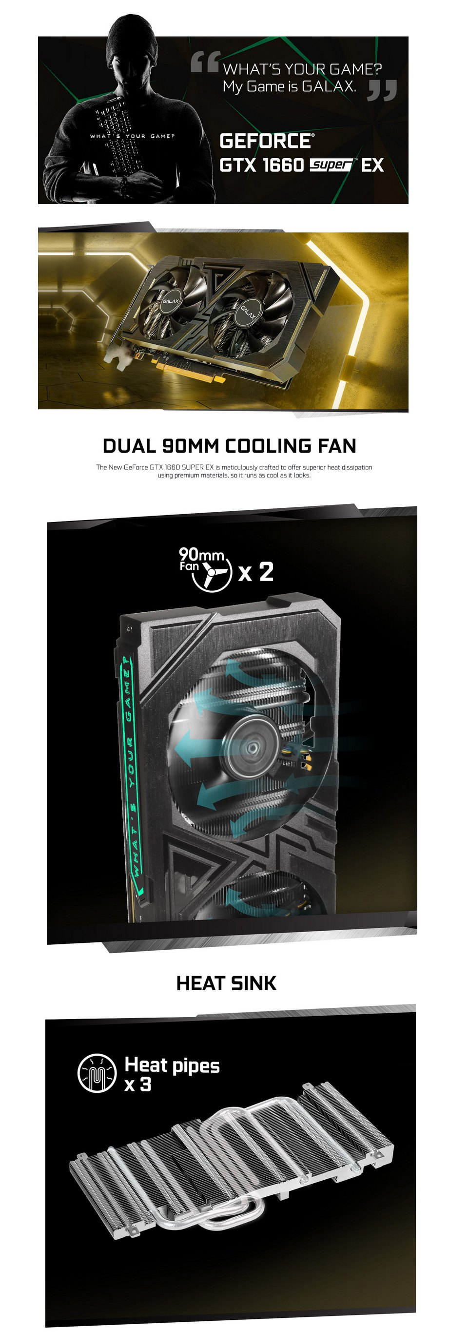 Galax GeForce GTX 1660 Super EX 1-Click OC 6GB features