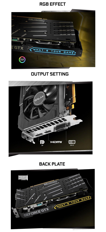Galax GeForce GTX 1660 Super EX 1-Click OC 6GB features 2