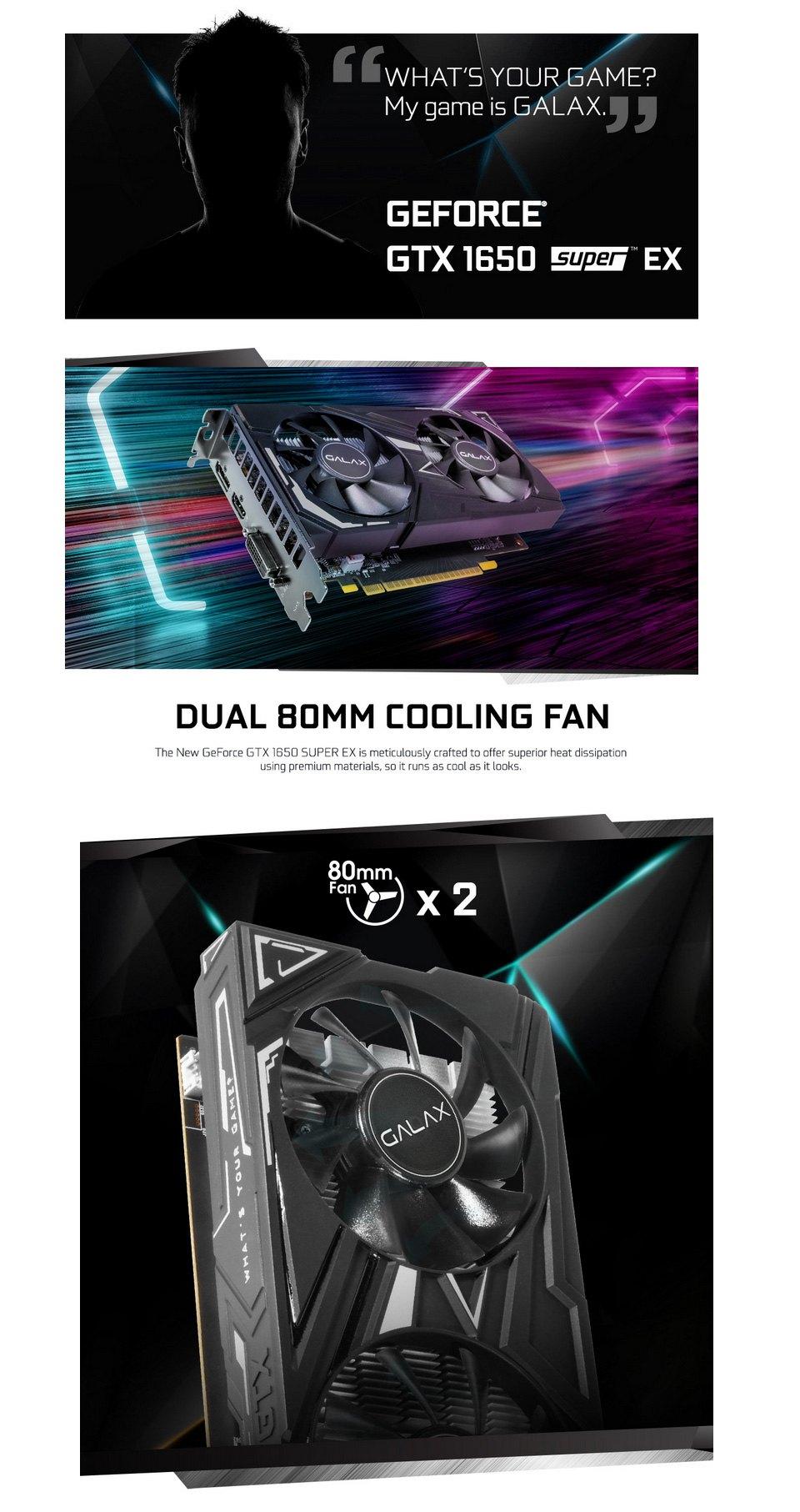 Galax GeForce GTX 1650 Super EX 1-Click OC 4GB features