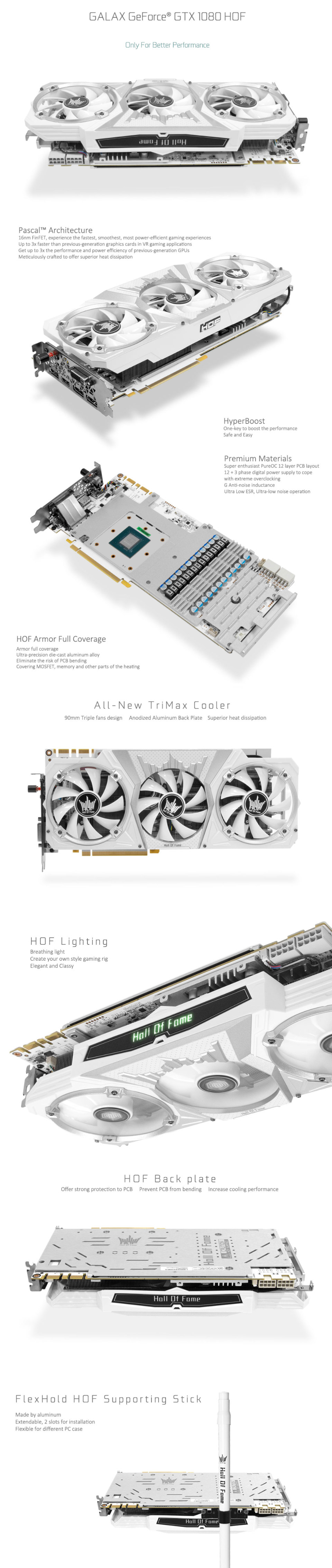 Galax GeForce GTX 1080 Hall of Fame Edition 8GB [GLX-GTX1080