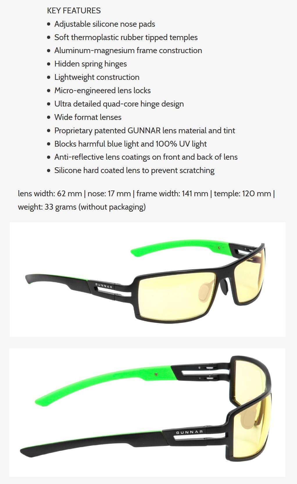 ab0961649631 Gunnar Razer RPG Amber Onyx Indoor Digital Eyewear  GN-RZR-30001z ...