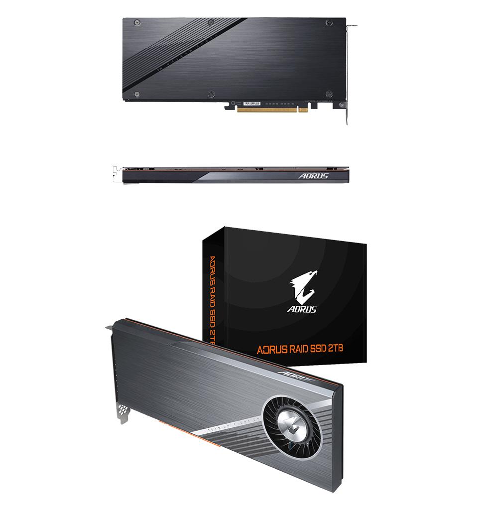 Gigabyte AORUS PCIe Raid SSD 2TB (4x512GB NVMe) product