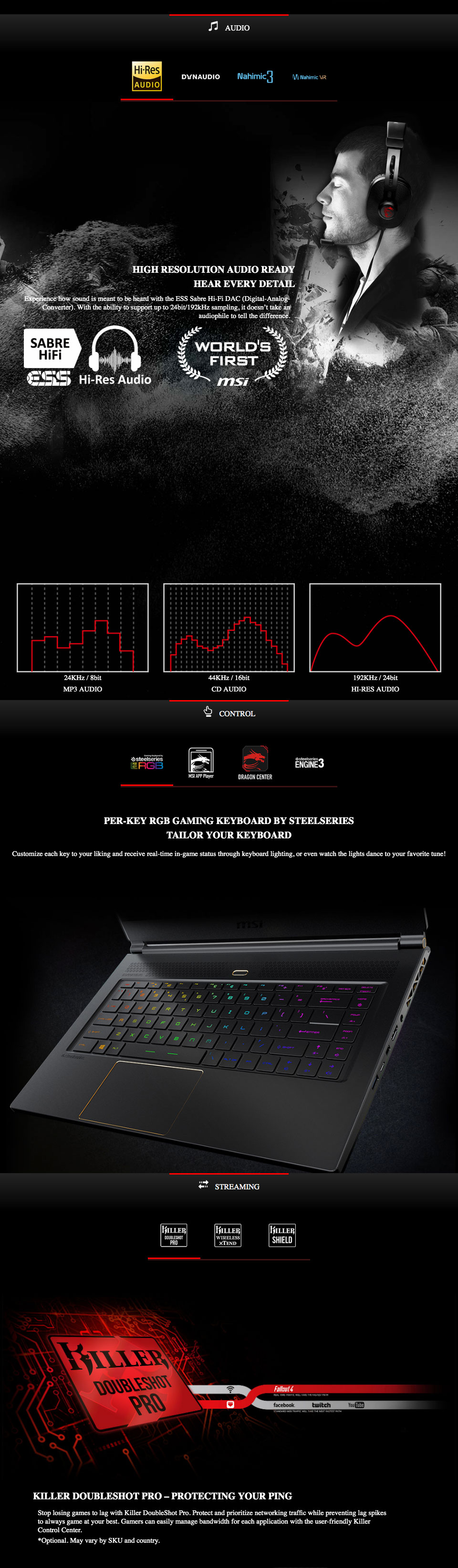 MSI GS65 Stealth Core i7 RTX 2080 15 6in 144Hz Notebook
