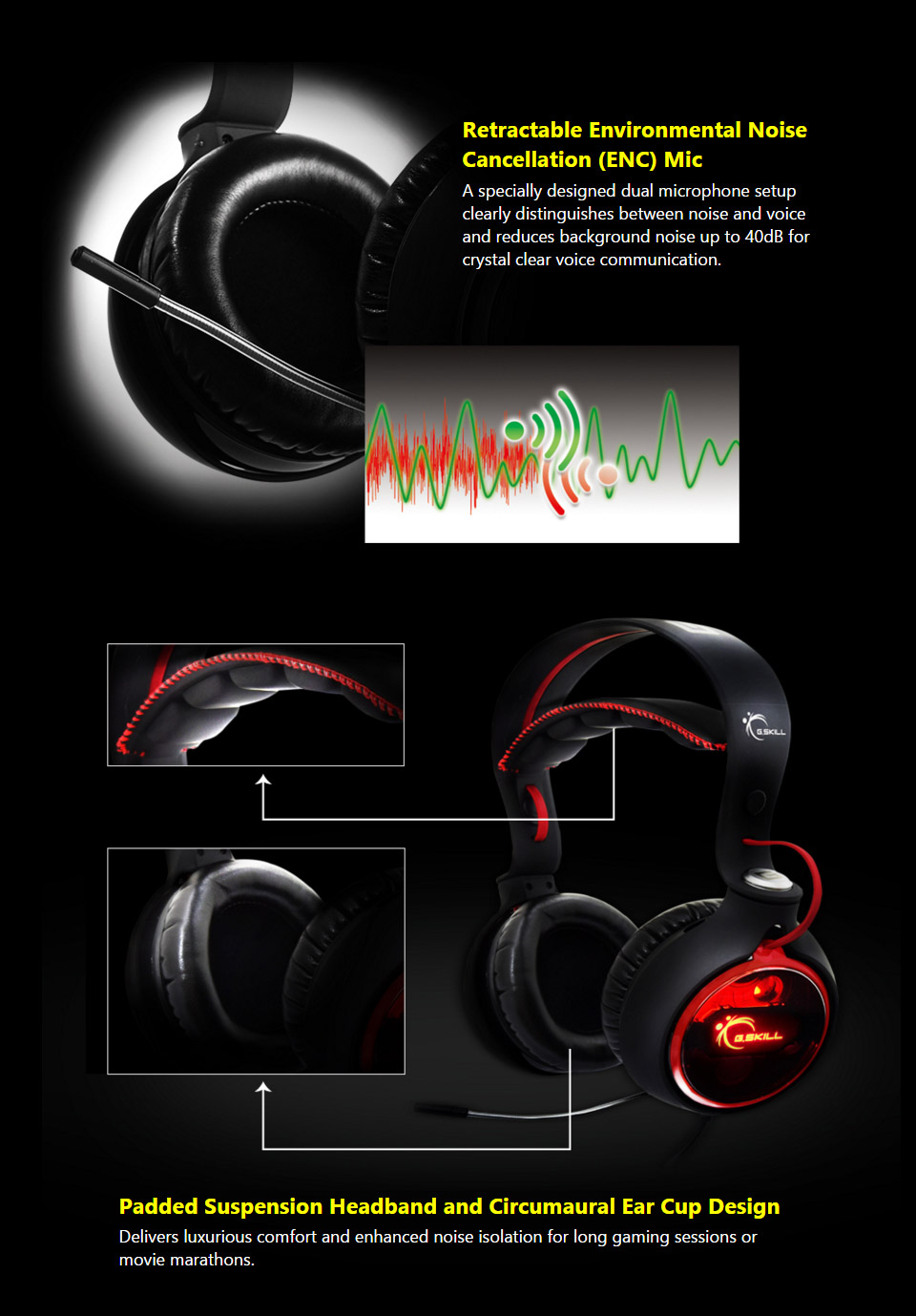 G Skill Ripjaws SR910 Real 7 1 USB Headset [GS-GH-D71NRE