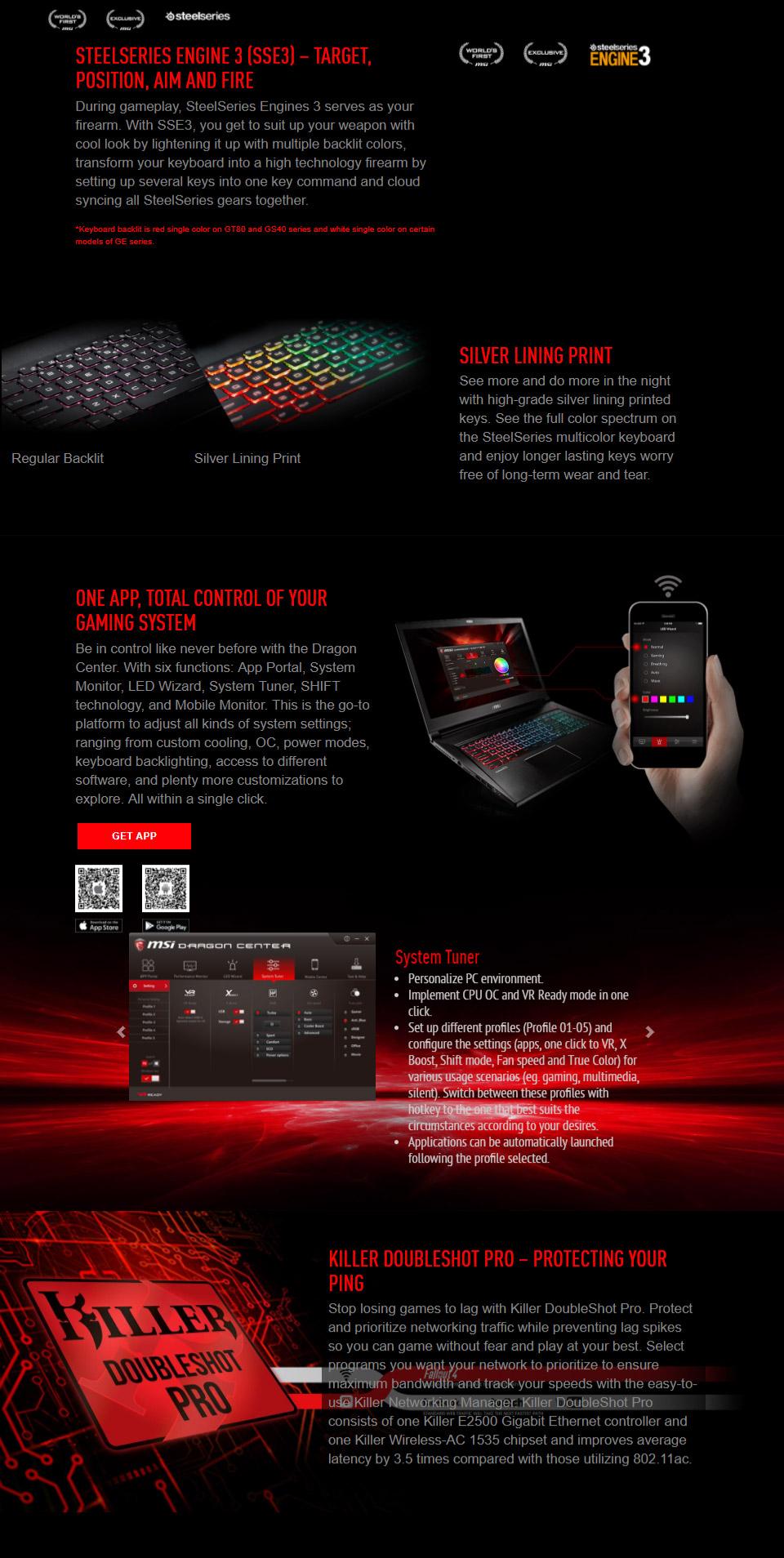 MSI GT62VR Dominator Pro 15 6in Gaming Laptop [7RE-404AU] [GT62VR