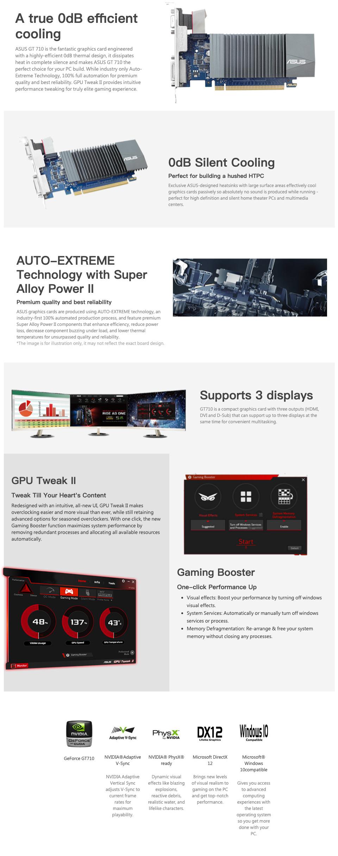 ASUS GeForce GT 710 2GB features