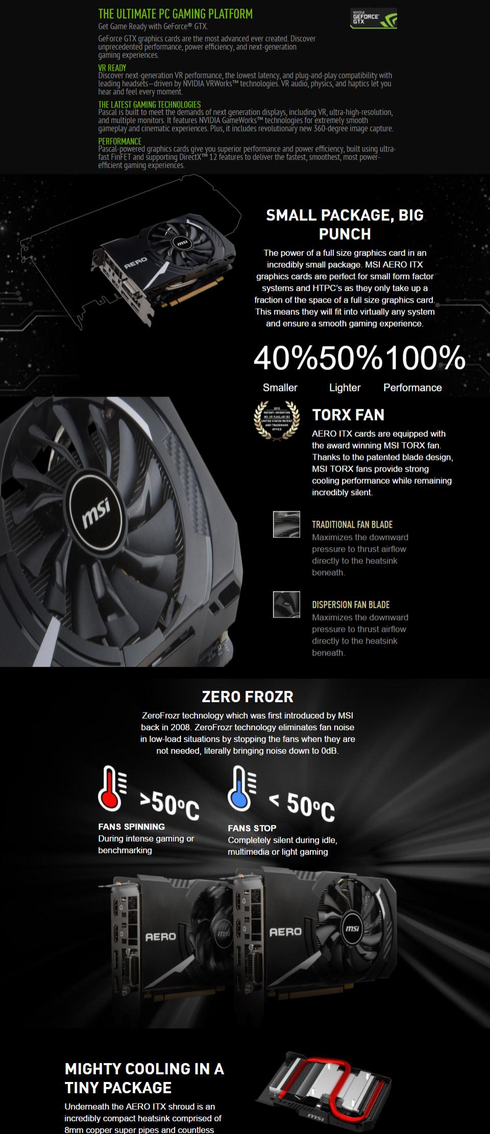 MSI GeForce GTX 1060 Aero ITX OC 6GB [GTX1060-AERO-ITX-6G-OC