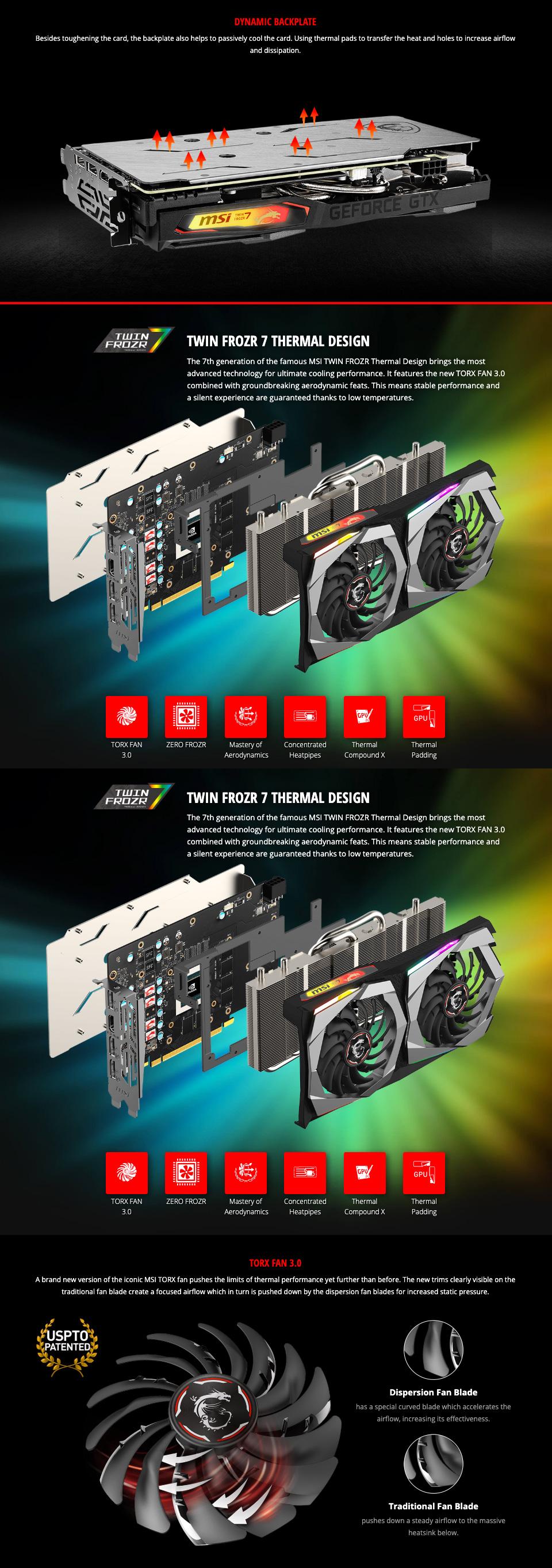 MSI GeForce GTX 1660 Super Gaming X 6GB features 2