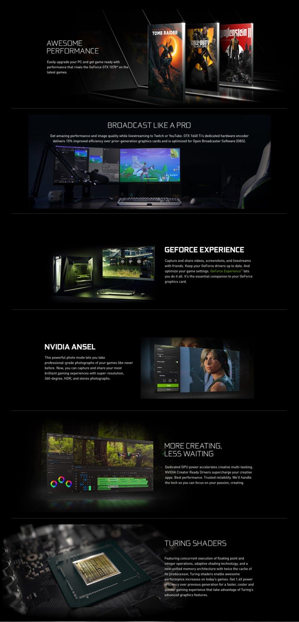 Gigabyte GeForce GTX 1650 Super OC 4GB features 3
