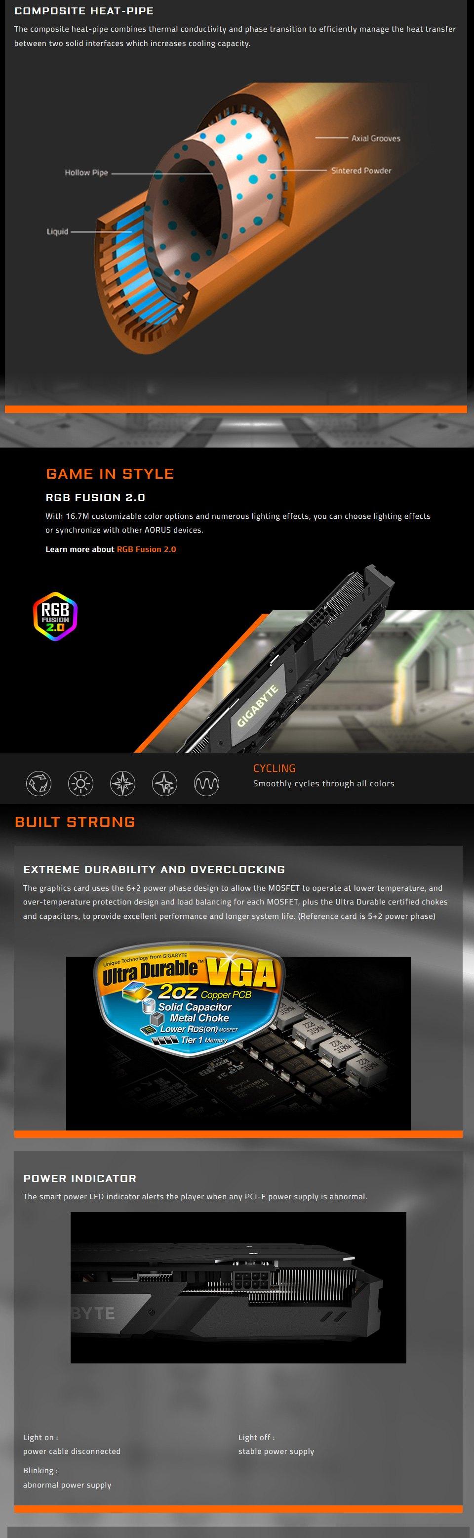 Gigabyte GeForce RTX 2060 Super Gaming OC 3X 8GB features 3