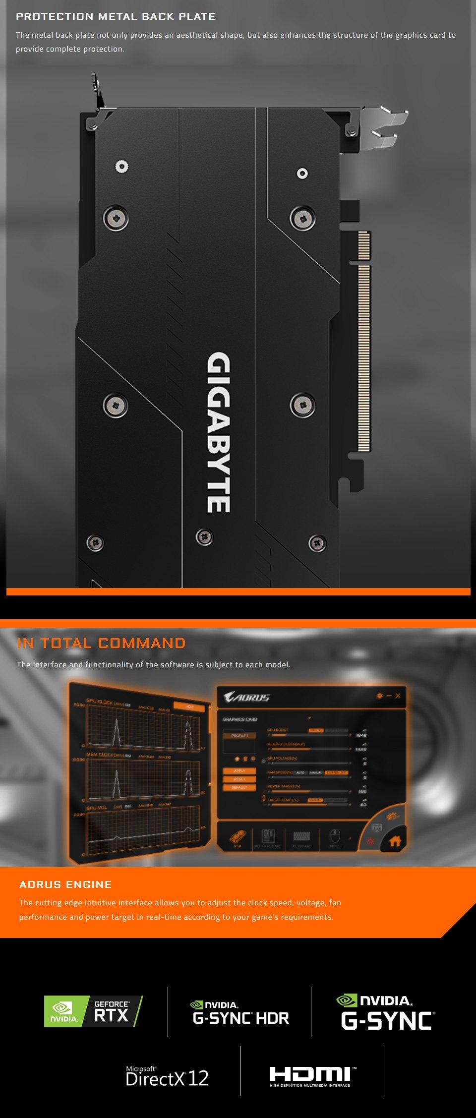 Gigabyte GeForce RTX 2060 Super Gaming OC 3X 8GB features 4