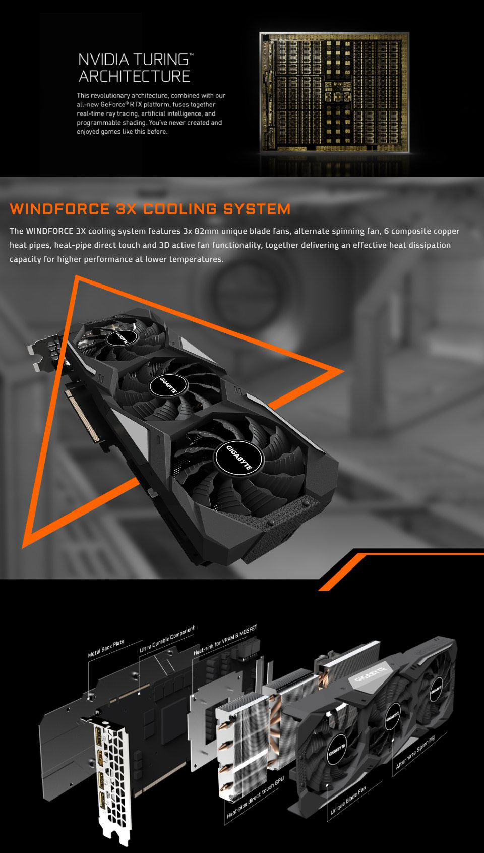 Gigabyte GeForce RTX 2070 Super Gaming OC 3X 8GB features