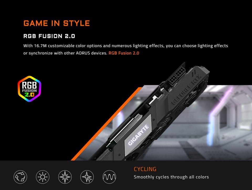 Gigabyte GeForce RTX 2070 Super Gaming OC 3X 8GB features 5