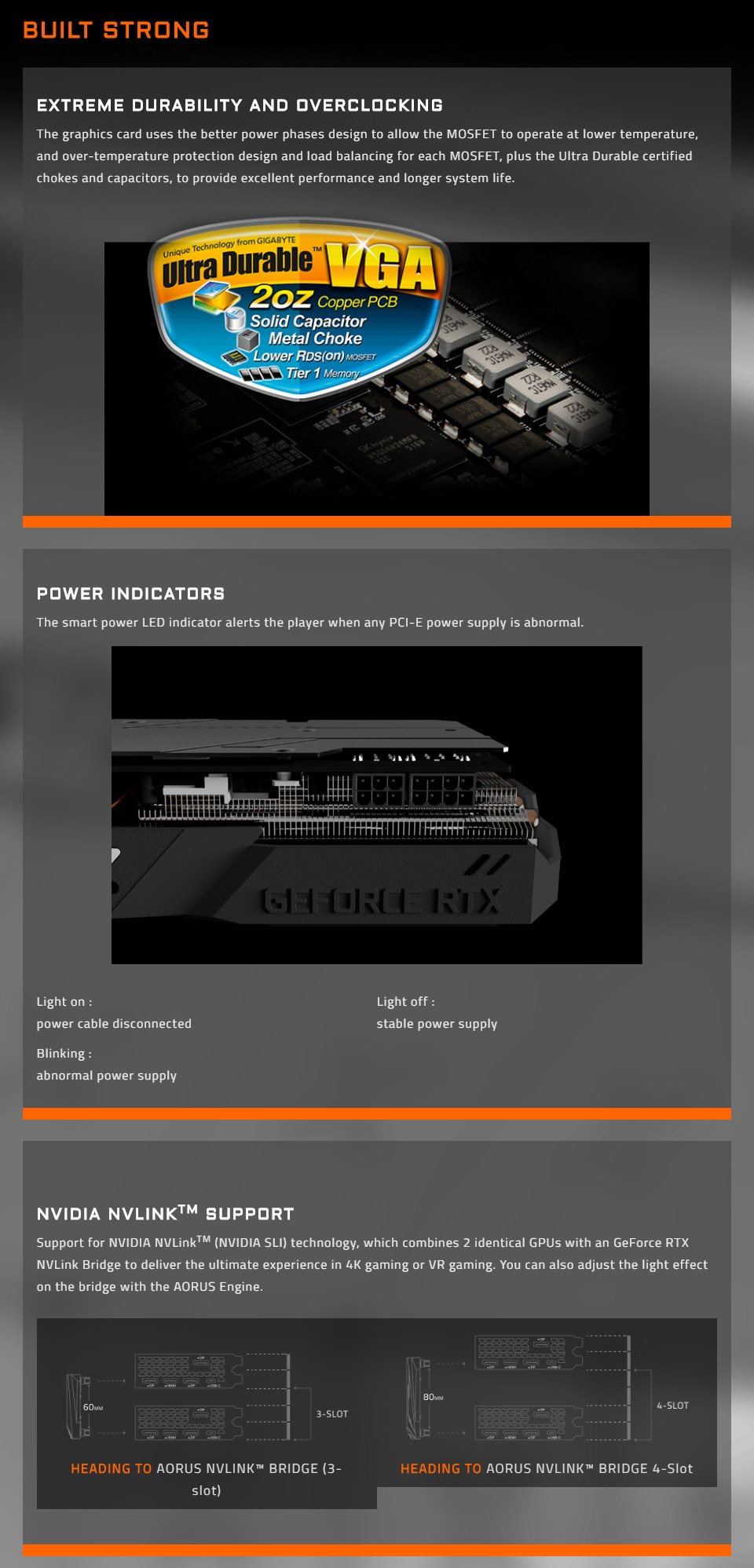 Gigabyte GeForce RTX 2070 Super Gaming OC 3X 8GB features 6