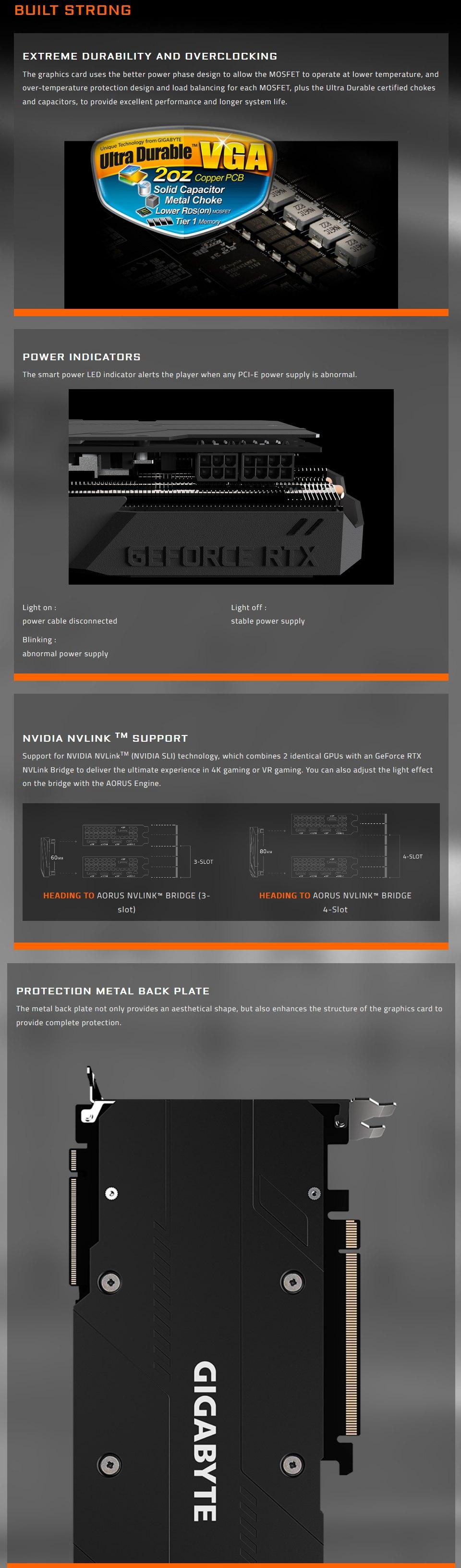 Gigabyte GeForce RTX 2080 Super Gaming OC 8GB Rev 2.0 features 4