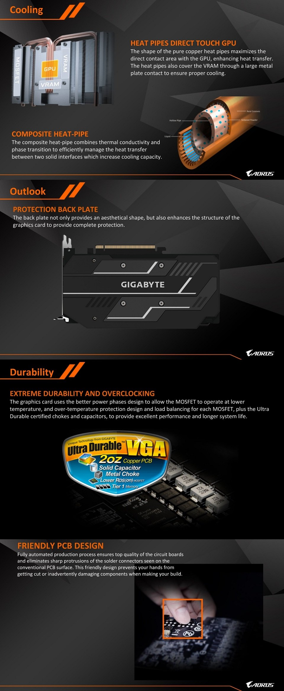 Gigabyte Radeon RX 5500 XT OC 8GB features 2