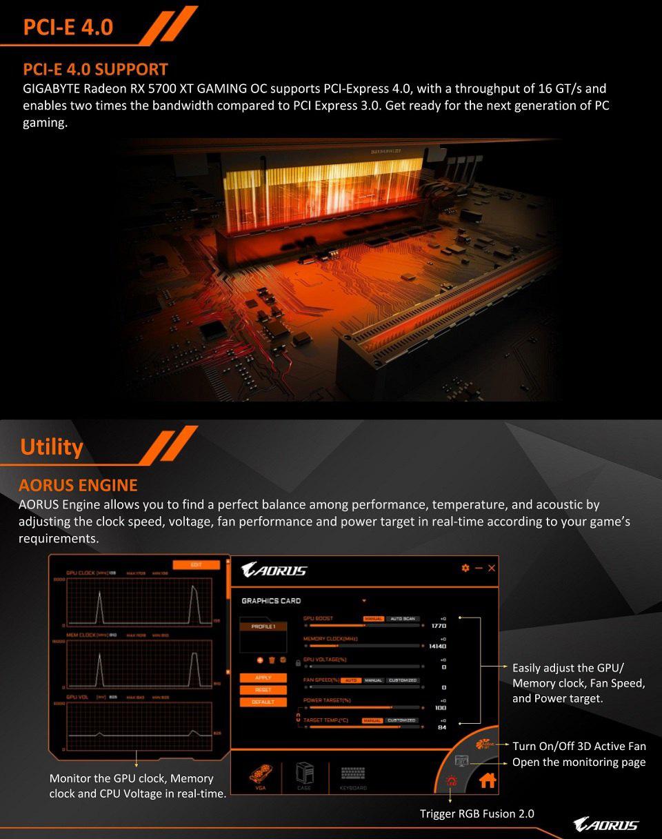 Gigabyte Radeon RX 5500 XT OC 8GB features 3