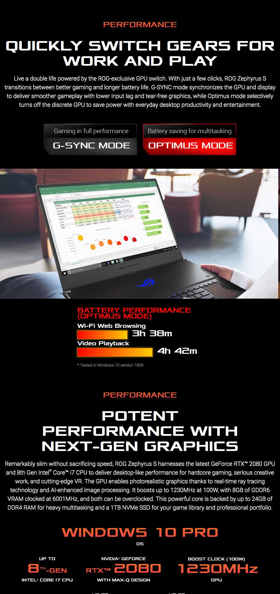 ASUS Zephyrus S Core i7 GeForce RTX 2080 17 3in 144Hz