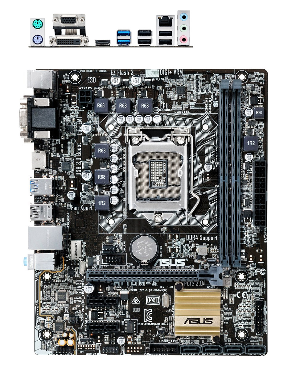 ASUS H110M-A Motherboard [H110M-A] : PC Case Gear
