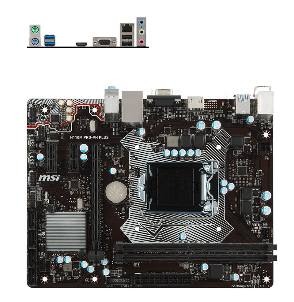 MSI H110M-Pro VH Plus Motherboard [H110M-PRO-VH-PLUS] : PC ...