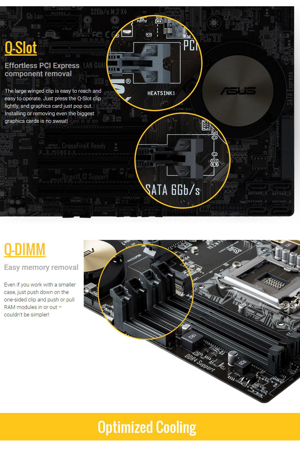 ASUS H170M E D3 Motherboard [H170M-E-D3] : PC Case Gear