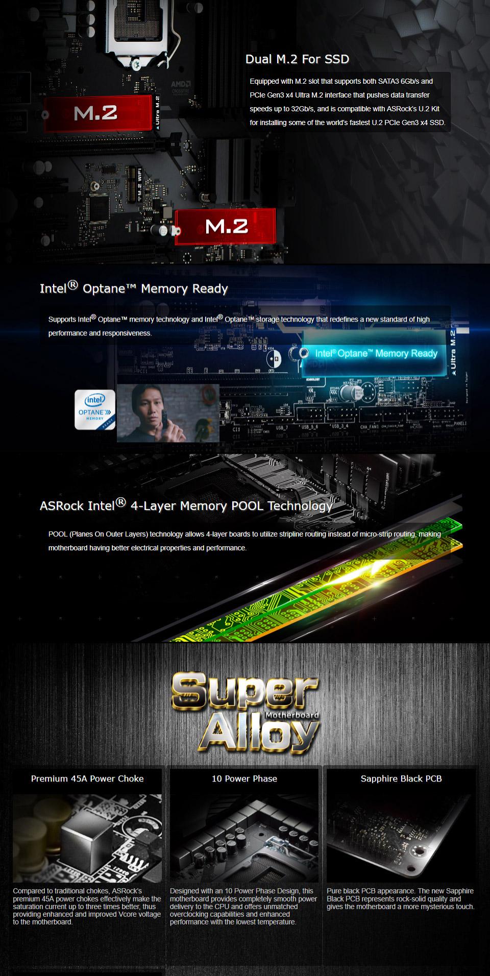 ASRock H370M-Pro4 Motherboard [H370M-PRO4] : PC Case Gear