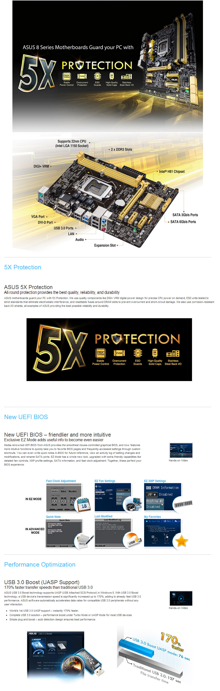 ASUS H81M E Motherboard H81M E PC Case Gear