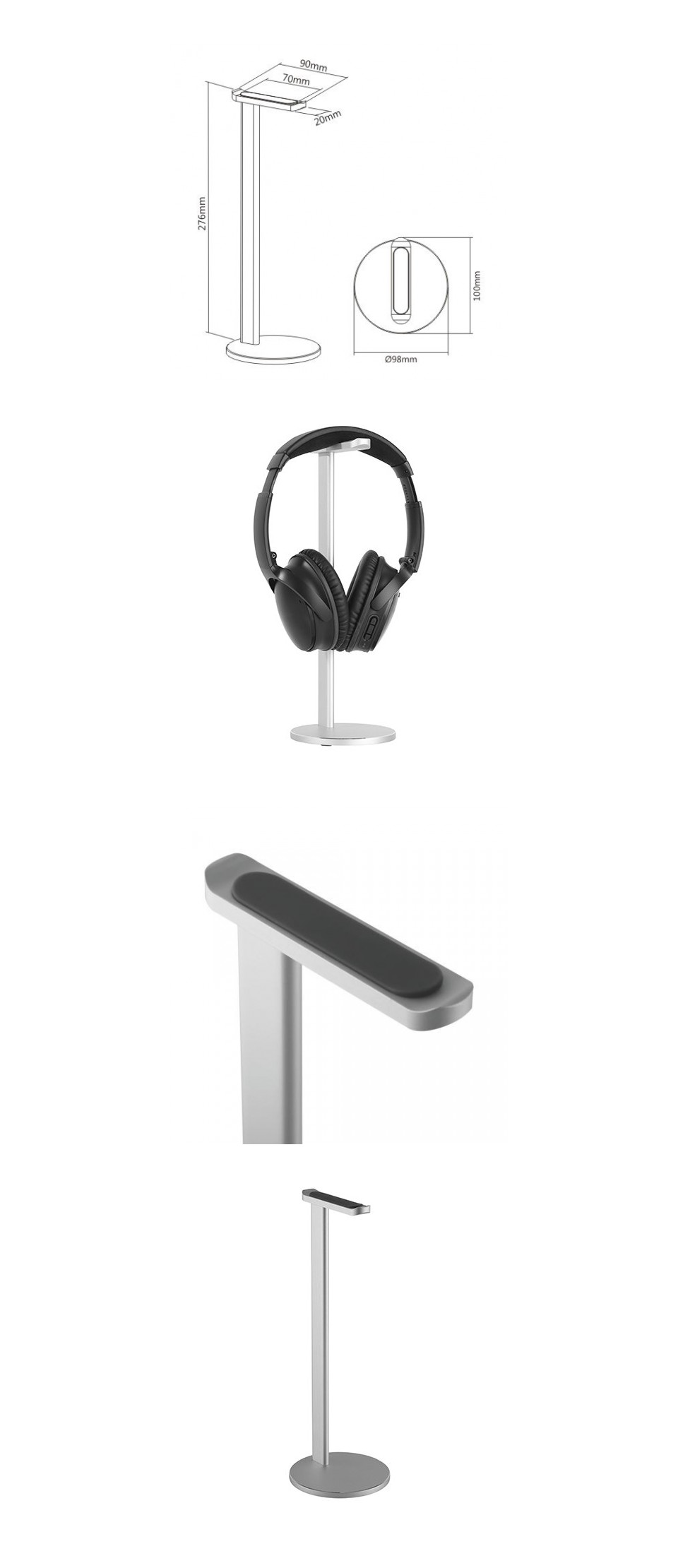 Brateck Aluminum Desktop Headphone Stand product