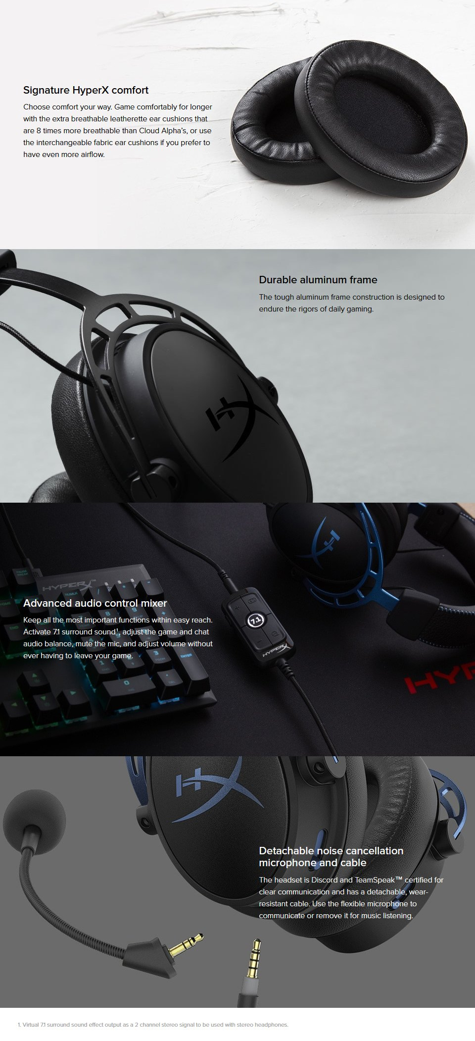 HyperX Alpha S Gaming Headset Black features 2