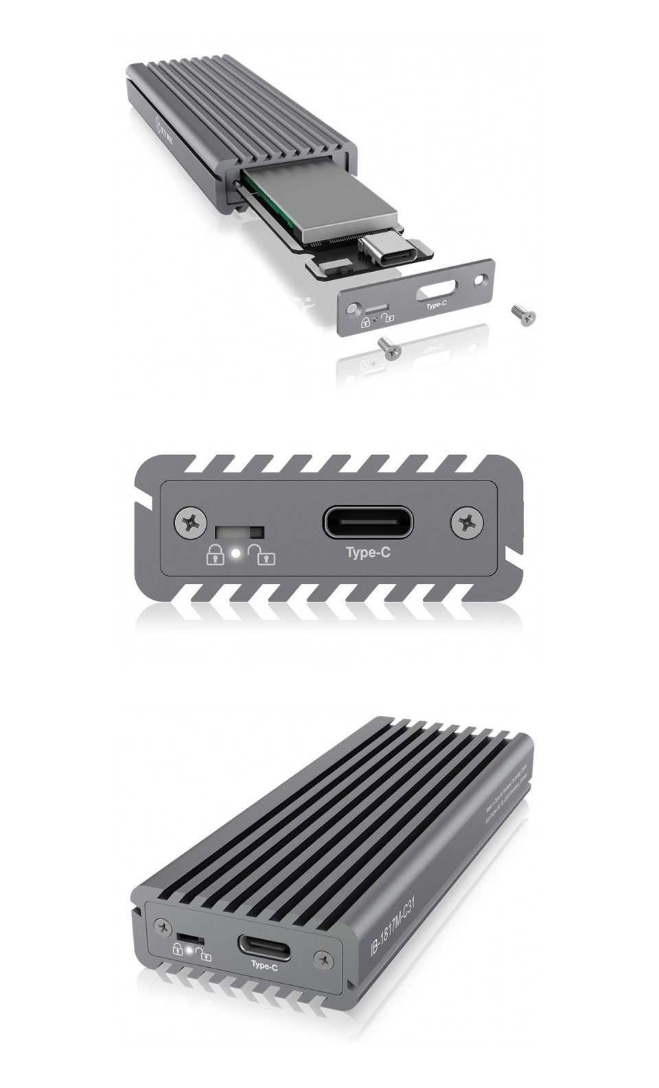 ICY BOX USB3.1 Type C NVME M.2 Enclosure product