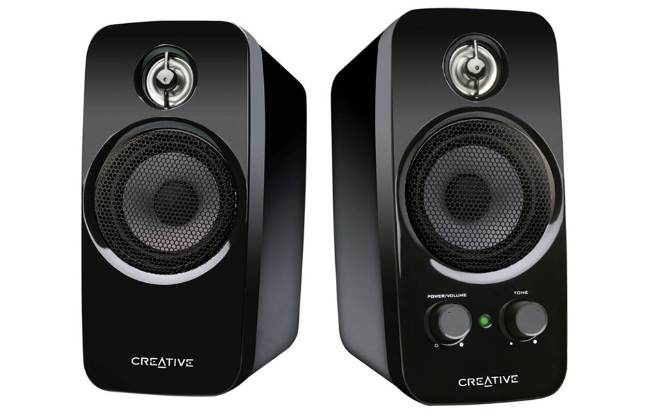creative inspire t10 2 0 speakers 51mf1600aa039 pc case gear. Black Bedroom Furniture Sets. Home Design Ideas