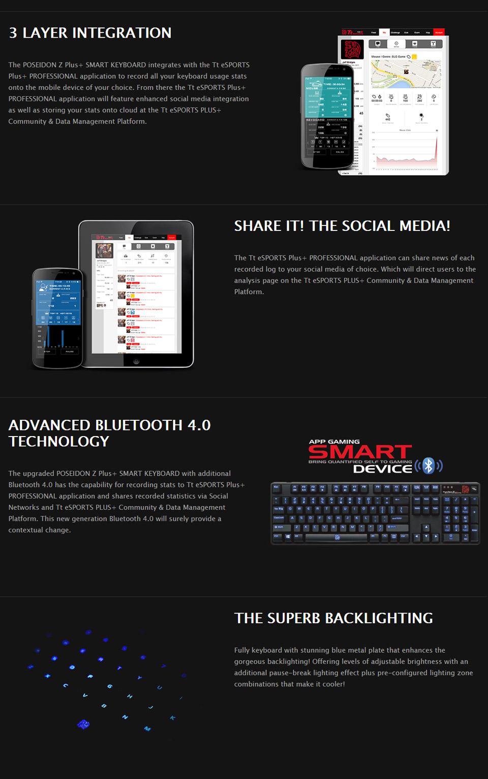 dd2e43929d6 Tt eSPORTS Poseidon Z Plus+ Mechanical Gaming Keyboard [KB-PZP ...