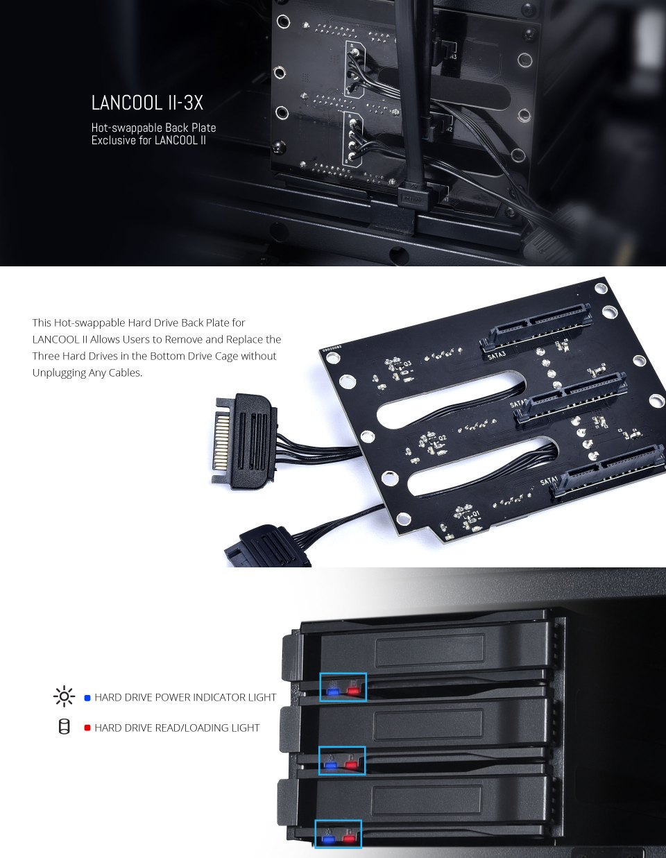 Lian Li HDD and SSD Hot Swap Backpanel For Lancool Two features