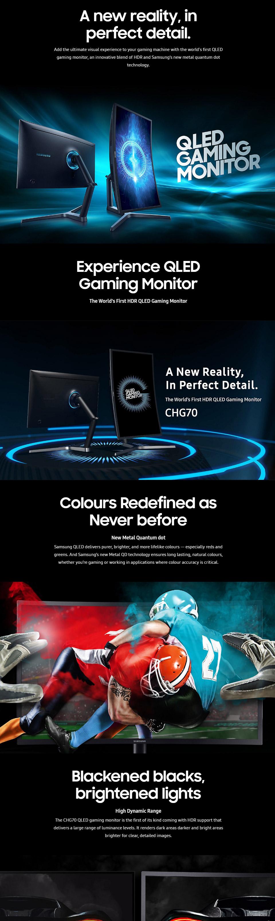 Samsung LC32HG70QQEXXY QHD FreeSync 32in QLED VA Gaming Monitor