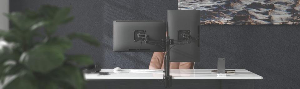 Brateck LDT30-C024 Dual Articulating Aluminum Monitor Arm features