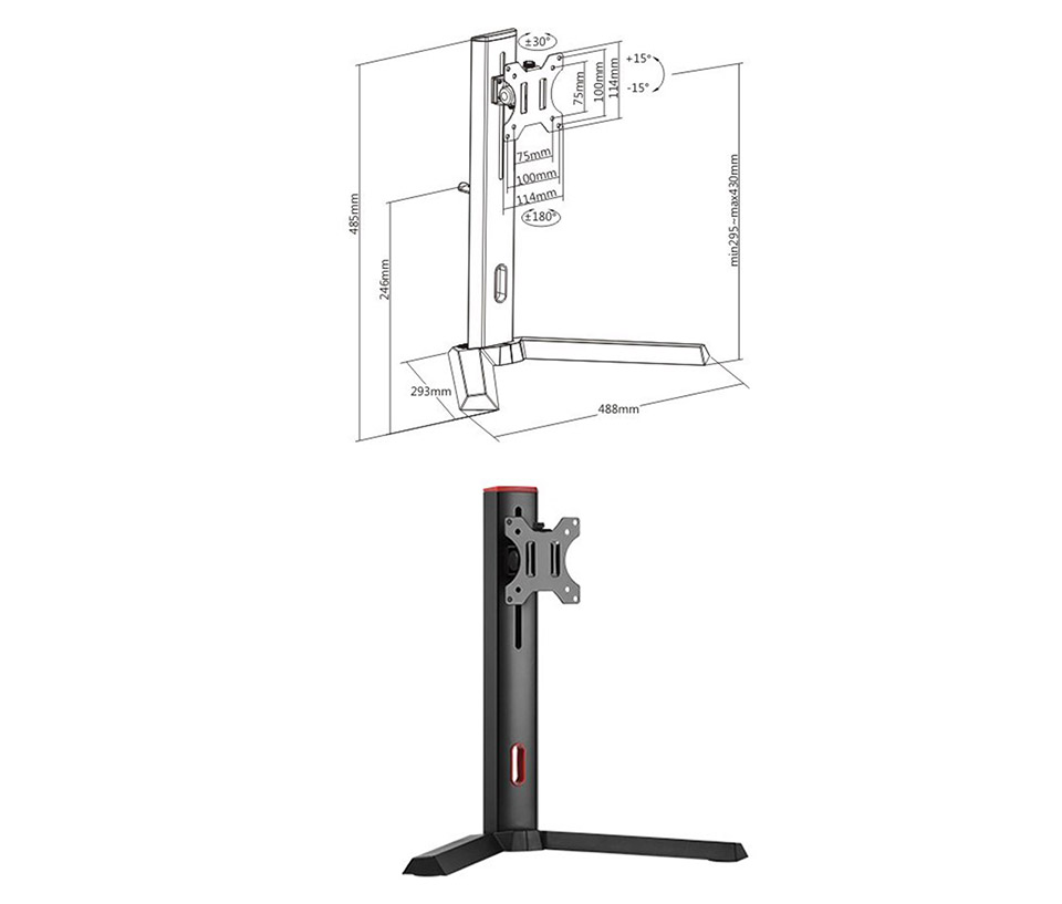 Brateck LDT32-T01 Single Screen Classic Pro Gaming Monitor Stand product