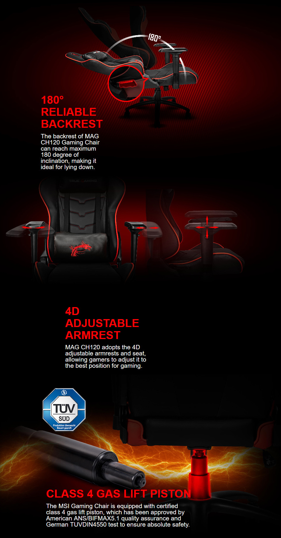 MSI MAG-CH120X Gaming Chair features 2