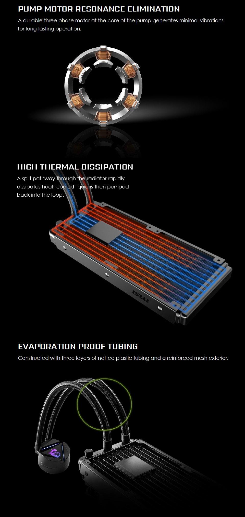 MSI MAG CORELIQUID 240R AIO Liquid CPU Cooler features 2