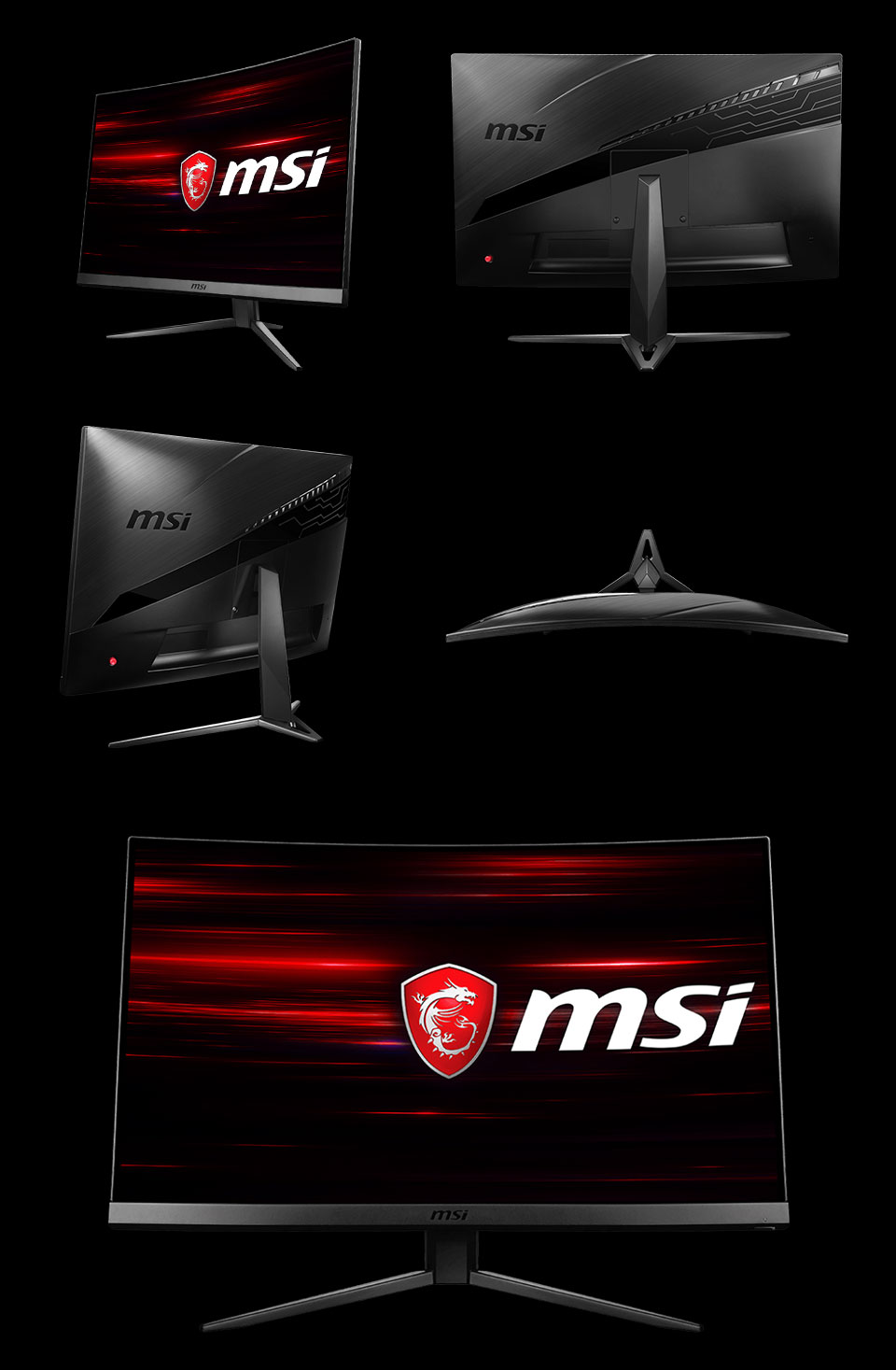 MSI MAG241C FHD 144hz Freesync Curved 24in Monitor