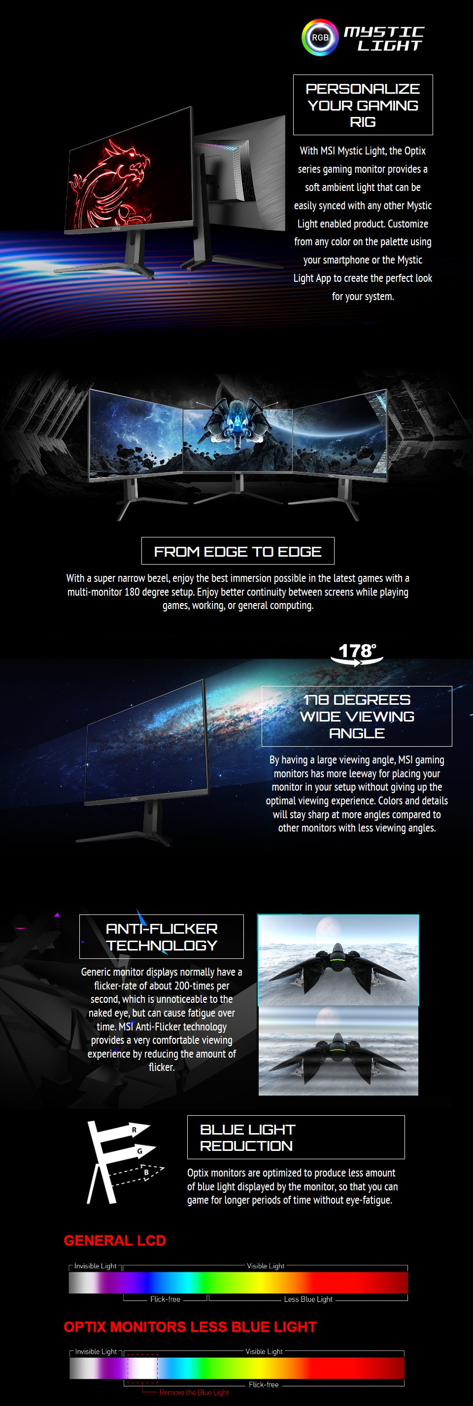 MSI Optix MAG273R FHD 144Hz FreeSync HDR IPS 27in Monitor features 3