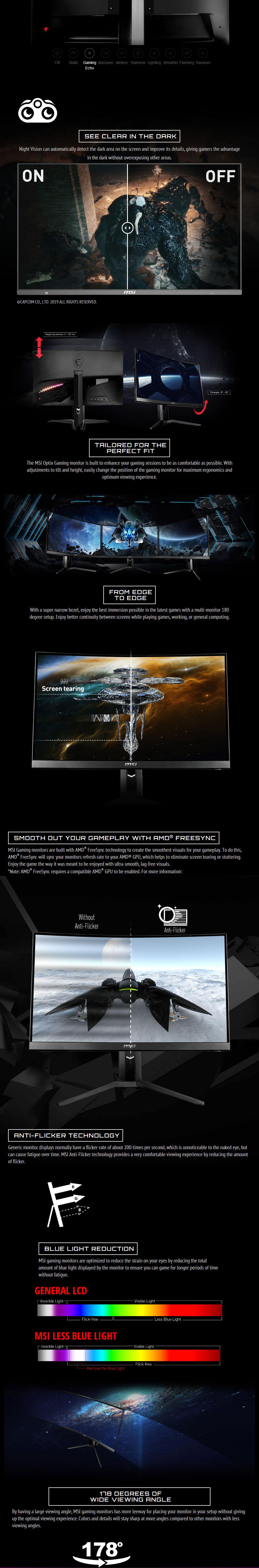 MSI Optix MAG322CQRV QHD 144Hz Curved 32in VA Gaming Monitor