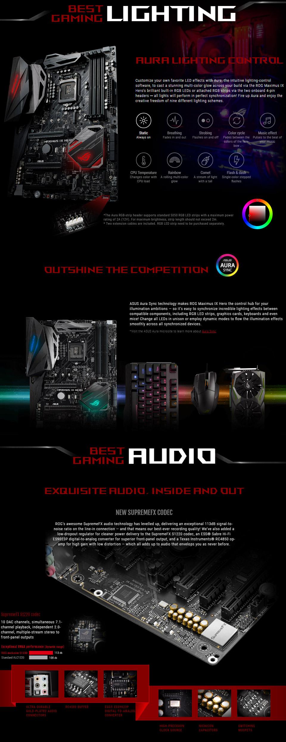 ASUS ROG Maximus IX Hero Motherboard [MAXIMUS-IX-HERO] : PC