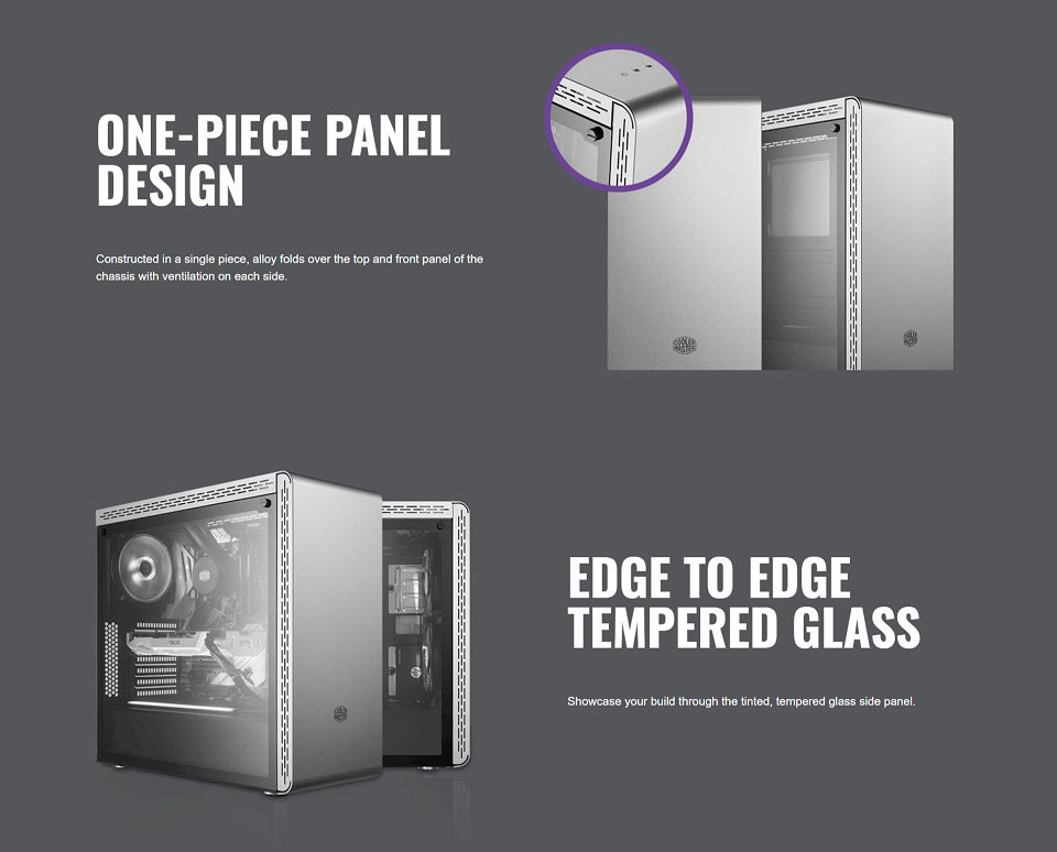 Cooler Master MasterBox MS600 Tempered Glass Case White features