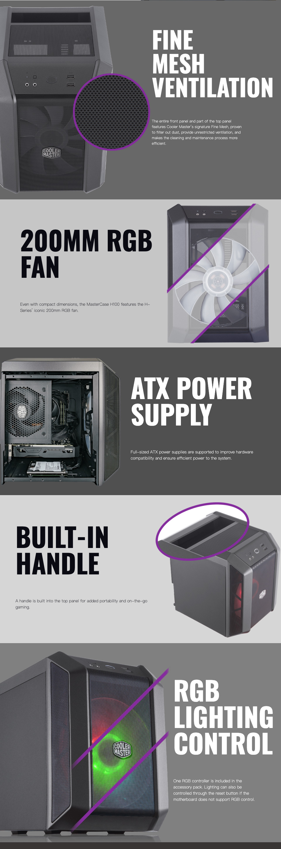 Cooler Master MasterCase H100 Mini-ITX Case features 2