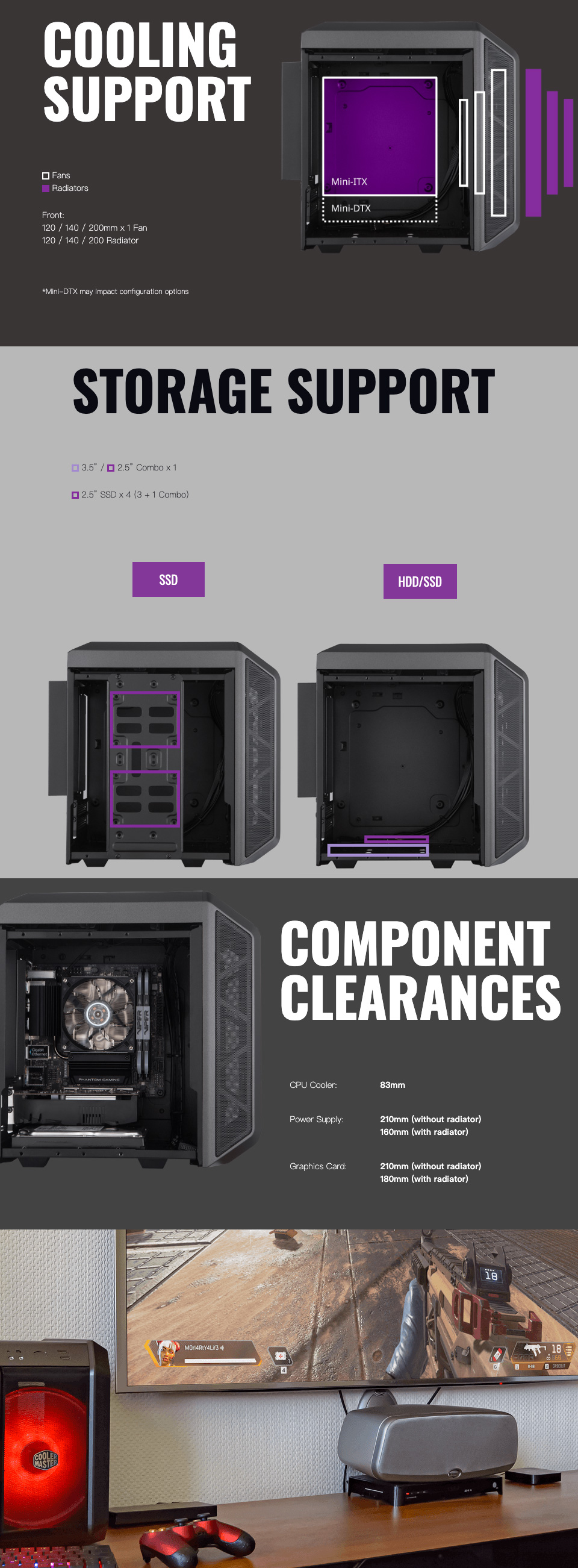 Cooler Master MasterCase H100 Mini-ITX Case features 3