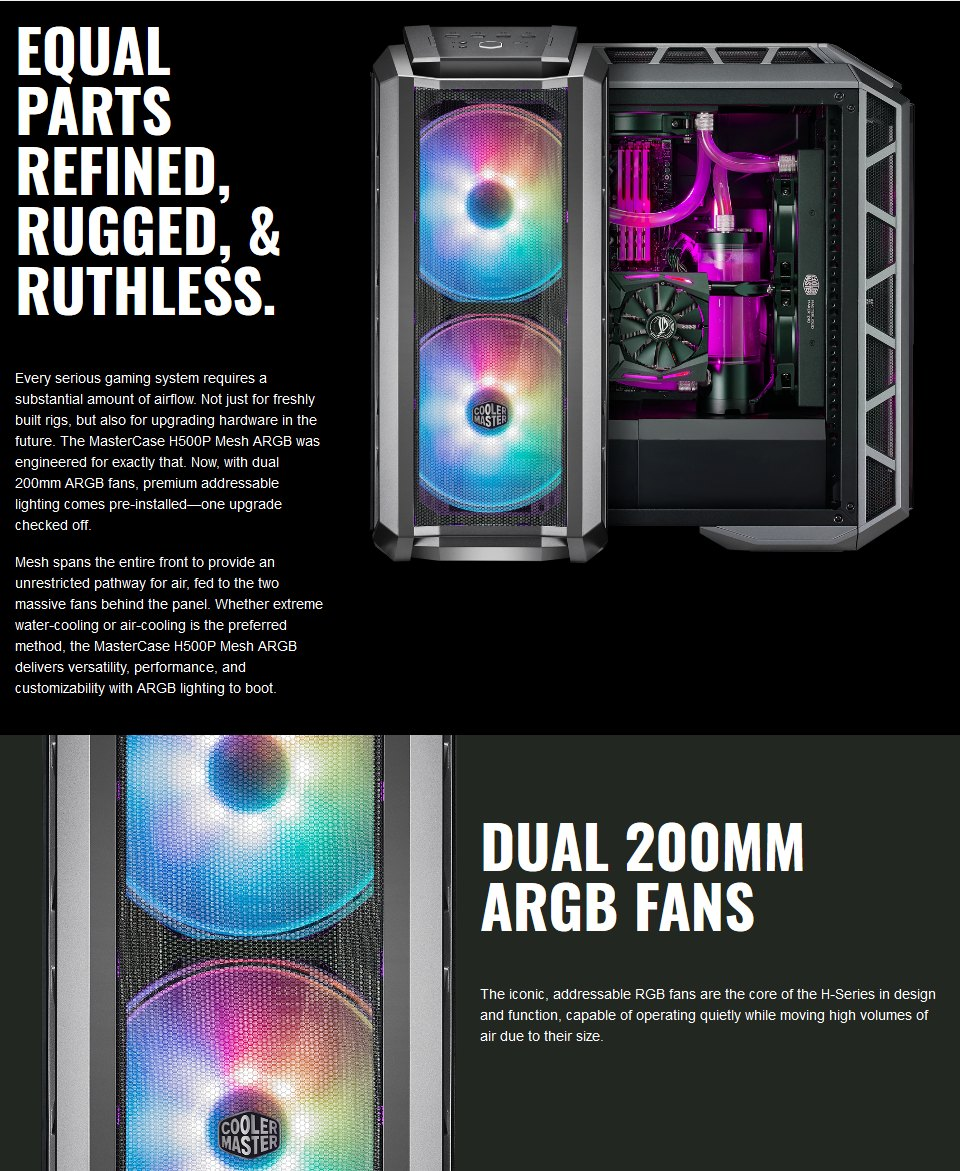 Cooler Master MasterCase H500P ARGB Mesh Case features
