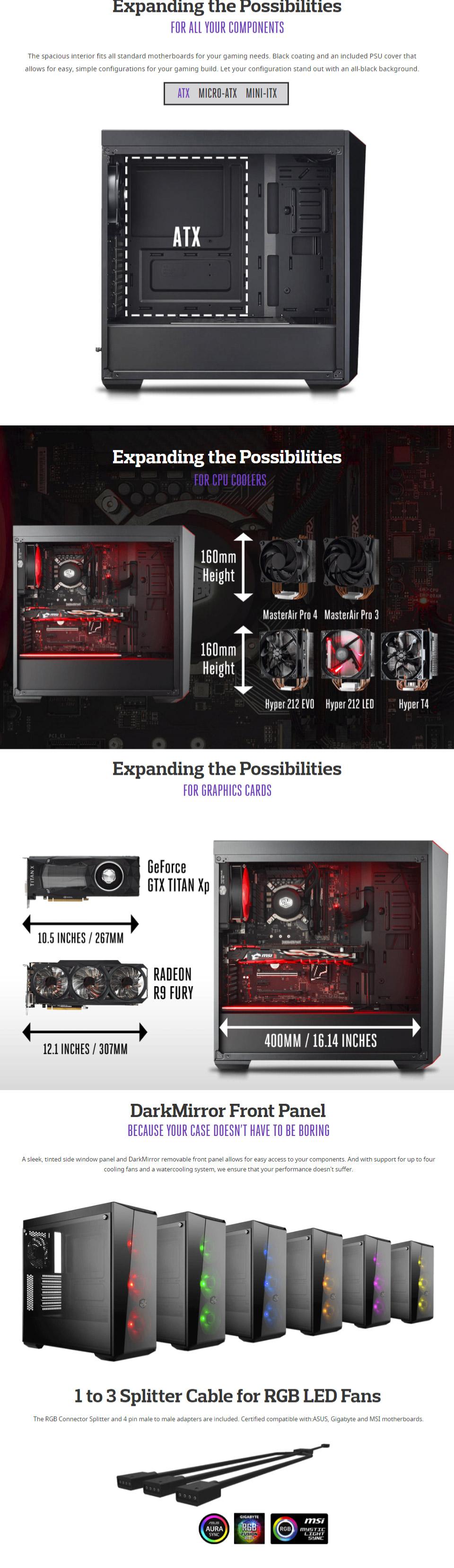 Cooler Master MasterBox Lite 5 RGB PC Computer Case (Black) |  MCW-L5S3-KGNN-02